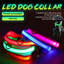 S/M/L/XL LED Pet Dog Neck Collar Cat Puppy Luminous Flashing Light Safet