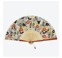 Tokyo Disney Resort Limited Mickey Mouse Flower pattern Japanese hand fan