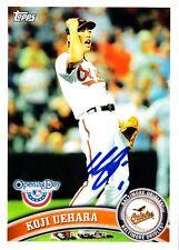 Koji Uehara Topps Baltimore Orioles SIGNED CARD AUTOGRAPHED