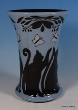 MOORCROFT Lucky Black Cats 158/6 Numbered Ed Vase RRP £235 Reduced To Clear