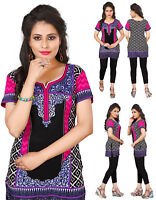 UK STOCK -  Women Fashion Indian Short Kurti Tunic Kurta Top Shirt Dress 107B