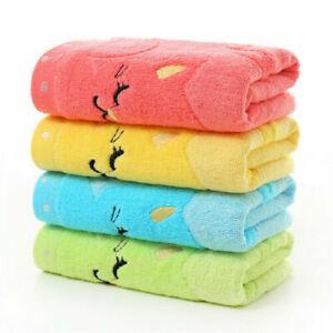 UK Cute Soft Cotton Infant Newborn Babies Bath Towels Wash Cloth Feeding Wipe
