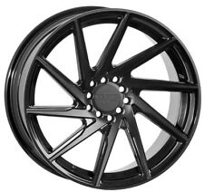 17X8.5 +38 F1R F29 5X100 DOUBLE BLACK WHEELS FIT TC FR-S GT86 BRZ WRX VW GOLF