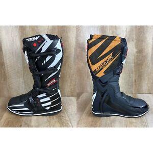 Fly Racing Maverik MX Riding Race Boots Black White Brown Men Size 13 Worn Once