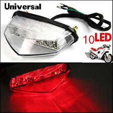 12V 10LED Motorcycle ATV Dirt Bike Brake Stop Running Tail Light Red Universal