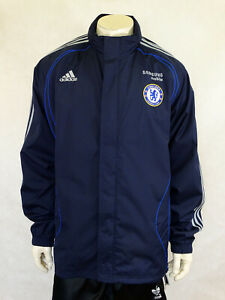 Chelsea Football Shirt Jersey Trikot Jacket Adidas UK 46/48 D 9 XL