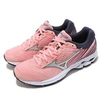 Mizuno Wave Rider 22 Pink Silver White Women Running Shoes Sneakers J1GD1831-74