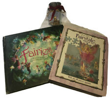 2x FAIRY Books - FAIRIES (30x27cm) / FAIRYTALE Jigsaw Book + Fairy in a Jar