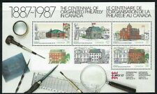 1987 Canada, The Centennial of Organised Philately Mini Sheet MNH