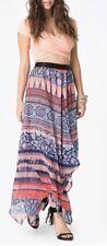 Women's Bebe Size XS Printed Handkerchief Skirt Multicolor Maxi NWT G
