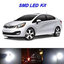 8 x White LED Bulbs for 2012-2016 Kia Rio Reverse License Plate + Interior Light