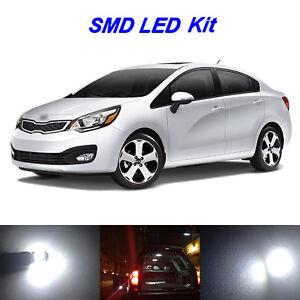 6 x White LED Interior Bulbs Kit License Plate Lights for 2012-2016 Kia Rio