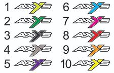 2 POLARIS AXYS STICKER Snowmobile Sled 600 800 Stickers Racing Decal RMK ASSAULT