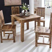 FineBuy mesa de comedor RUSTI 80 x 80 x 76cm mesa de madera maciza de madera mes
