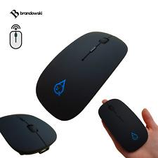 QDrop Bluetooth Mouse Wireless Akkubetrieben 1600DPI Wireless Flat Apple Mac Ios