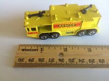 Toy Hot Wheels Airport Fire Rescue Truck 1979 Mattel Yellow