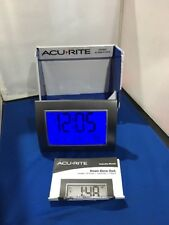 AcuRite Atomic Alarm Clock Digital Month Date Temperature Time Zone Daylight San