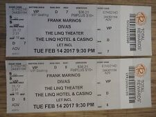 2 Collectible used Frank Marinos Divas ticket stubs Linq Theatre, Las Vegas, USA