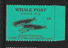 WHALE POST ALBANY 1993 LOCAL STAMP,USA,UNITED STATES,WHALES