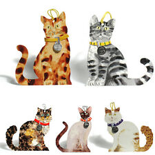 125 Die-cut Cat Gift Tags with Detachable Collar; Siamese, Tabby Cat ET0004