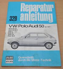 VW Polo AUDI 50 L S LS GLS ab 1977-1978 Motor Getriebe Reparaturanleitung B329