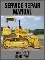 John Deere 655B 755B Crawler Loader Operation & Test Technical Manual TM1333 USB