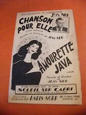 Partition Chanson per elle Jeans Ned Amourette Java