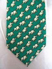 Krawatte von CABOUCHON, 100% Seide, Luxus, Schlips, Elefanten