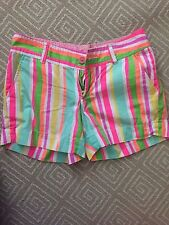 Women's Lilly Pulitzer Multi-Colored Striped Callahan Shorts - Womens Sz 0-EUC