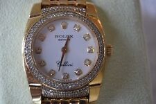 ROLEX CELLINI CESTELLO 18 KARAT YELLOW GOLD AND DIAMOND LADIES WATCH w/BOXES