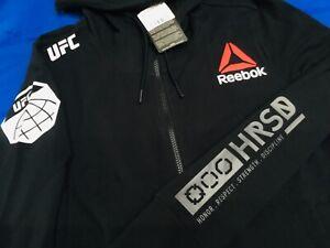 UFC MMA Womens LARGE Walkout HOODIE JACKET Reebok KIVA BRISENO Brand New