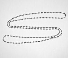 Stainless Steel 30 Inch 2.4mm Ball Link Neck Chain Necklace
