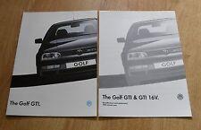 Volkswagen VW Golf Mk3 GTI & GTI 16v Brochure & Specifications 1993-1994