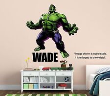 Personalized INCREDIBLE HULK WALL DECAL (Removable and Replaceable)