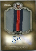 2012 Topps Tier One JASON HEYWARD Prodigious 3-Color Patch Relic Auto #05/10