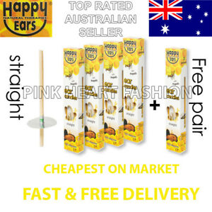 Cheapest for 4 Pairs + 1 Free Happy Ear Candles Natural Remedies Special Sale