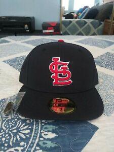 St. Louis Cardinals Navy Road Hat Size 7 1/4 Gray Brim