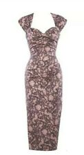 Stop Staring Pink Lace Wiggle Dress rockabilly pinup 50s Retro Size 16 -RRP $184