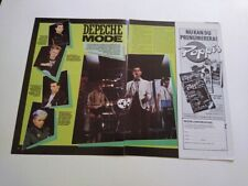 Depeche Mode clippings Sweden 1980s