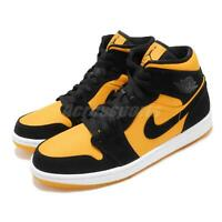 Nike Air Jordan 1 Mid SE GC Black University Gold Taxi AJ1 Sneakers CD6759-007