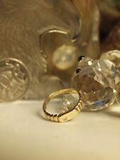 9KT SOLID YELLOW GOLD LADIES DIAMOND DRESS RING HALLMARKED : 9KT - SIZE : K