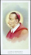 """santino-holy card""""""""ediz. EGIM  n.55 S.CARLO BORROMEO"""
