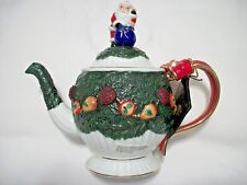 "Radko 1998 ""Palladian Garland"" Ceramic Teapot ""Home For The Holidays"" New In Box"