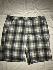 Puma Sport Life Style Dry Cell Plaid Golf Flat Front Shorts Size 38