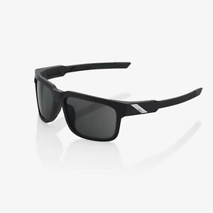 100% Active Performance Sports Sunglasses Type - S Soft Tact Black Smoke Lens BN