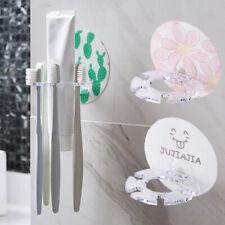 Plastic Toothbrush Holder Storage Rack Tooth Brush Dispenser Bathroom Organizer