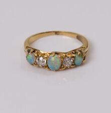 Antique Victorian 18ct Opal & Diamond Ring