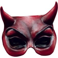 Partychimp halbmaske Face EvilPVC rot Einheitsgröße