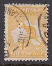 AUSTRALIA :1913 4d pale orange  die II  SG 6 used