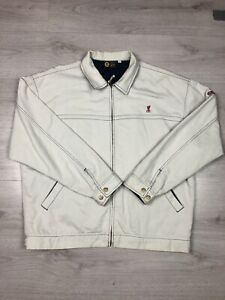 Vintage Retro Liverpool FC Men's White Jacket Size Large
